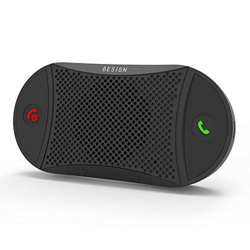 [2 Anni Garanzia] Besign BK02 Kit Vivavoce Bluetooth per Auto, per Chiamate Viva voce, GPS e Musica,...