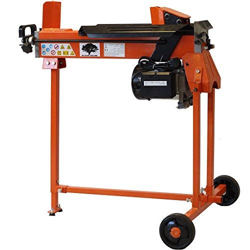 cortadora de troncos de madera hidráulica eléctrica cortador de 3 CV de 6 toneladas con el soporte y doublade