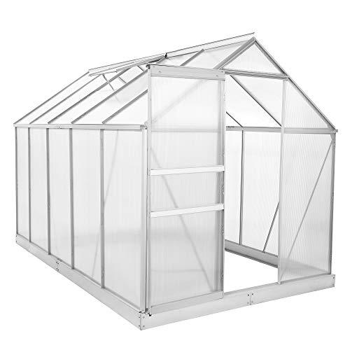 Zelsius Aluminium Gewächshaus für den Garten | inklusive Fundament | 310 x 190 cm | 6 mm Platten |...