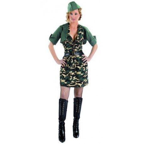 Disfraz de camuflaje para chica adulto