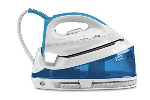 Calor SV6010C0 Centrale Vapeur Sans Cuve Haute Pression Fasteo 5 bars Effet Pressing jusqu'à 120g/min Mode Eco Défroissage Vertical Bleu