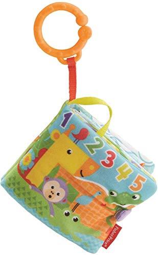 Fisher-Price il Mio Primo Libro attività, Pagine Colorate con Mordicchio, Giocattolo per Neonati di 1 + Mese, Multicolore, FGJ40