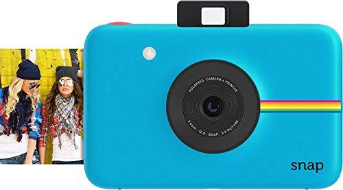 Polaroid Cámara digital instantánea Snap (azul) con la tecnología de impresión ZINK Zero Ink