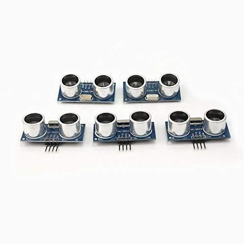 nuovo e di alta qualità 100% di marca  DC 5V ultrasonica del modulo HC-SR04 distanza trasduttore del sensore per Arduino  tensione di funzionamento:. 5 V (DC)  corrente statica: meno di 2 mA  segnale di uscita: Segnale elettrico di frequenza,...