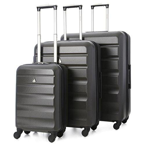 Aerolite - Set di 3 Trolley in ABS - Valigie rigide e leggere con 4 ruote - 55cm Bagaglio a mano +...