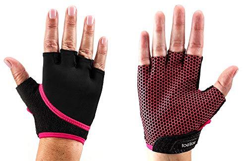 Fitness Mad ToeSox Yoga e Pilates Grip Guanto, Unisex, YTGLOVEF-S, Fuchsia, S
