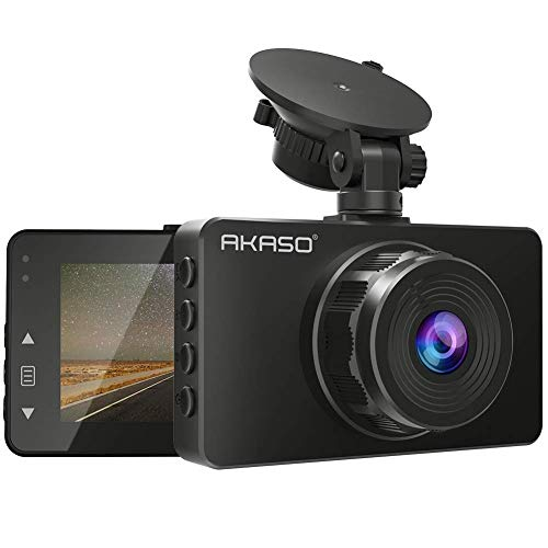 AKASO Dash Cam 1080P FHD 3 Inches IPS Screen, DVR Car Dash Camera Recorder with 170 Degrees Wide Angle, Loop Recording, Parking Monitor, G-Sensor, WDR, Night Vision(C330)