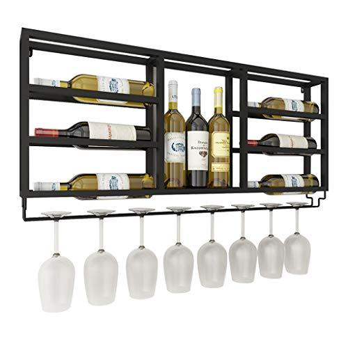 FPigSHS Portabottiglie da Parete Soggiorno Hotel Porta Bicchiere da Vino Multistrato Bar Ristorante...