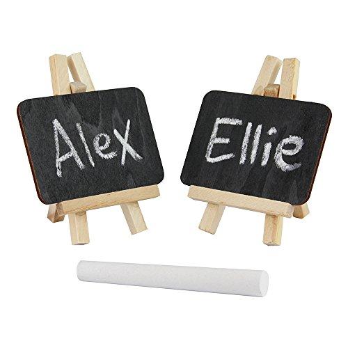 Ebuygb mini cavalletto gesso/nero board-reusable segnaposto nome tabella numero prezzo (confezione...