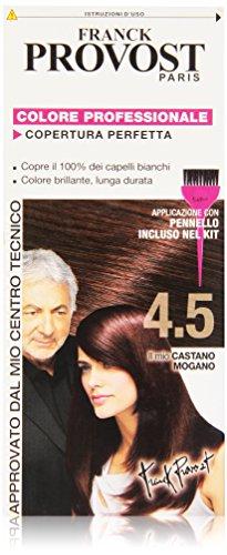 Franck Provost Colorazione Permanente Capelli, Tinta Copertura Ottima, Colore Professionale, 4.5 Castano Mogano