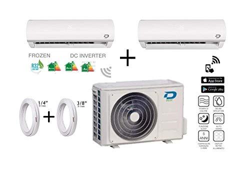Diloc Frozen Climatiseur Inverter Double Gaz R32 Compresseur Sharp D.FROZEN240 (9+12) D.FROZEN9 + D.FROZEN12) + Tubes Cuivre Couple 1/4' + 3/8' 8 Metri (8+8)