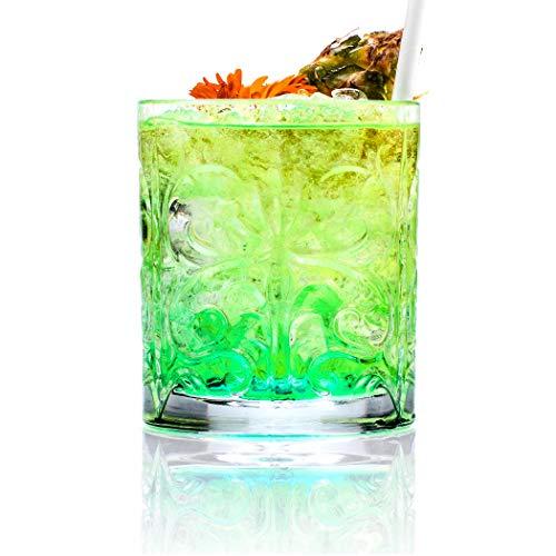 Rcr Confezione 6 Bicchieri Vetro Tatoo 33,7 Cl Made in Italy, Trasparente