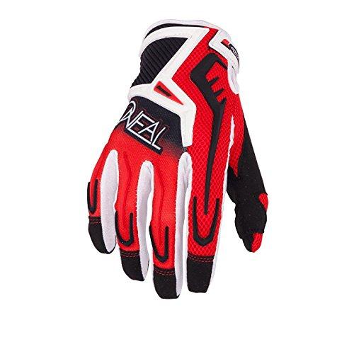 O'Neal Reactor MX Handschuhe Schwarz Rot Gr. XXL Motocross Enduro Offroad Quad MTB