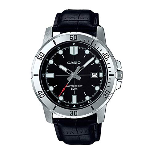 Casio Enticer Analog Black Dial Men's Watch - MTP-VD01L-1EVUDF (A1371)