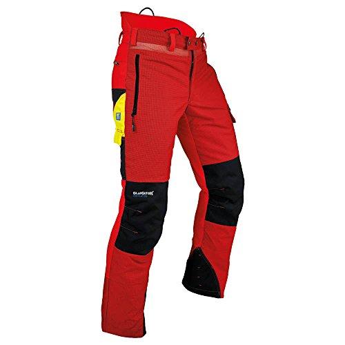 """Pfanner 101761/M Schnittschutzhose\""""Ventilation\"""" Größe M in rot/schwarz,"""