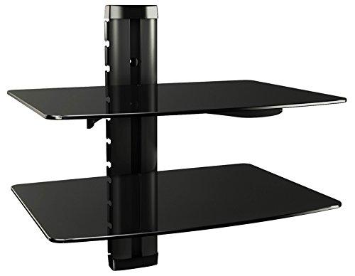 RICOO Scaffale pensile TV scansia Supporto da Parete Dvd Design Supporto   DVD-B2XL   Porta in Vetro...