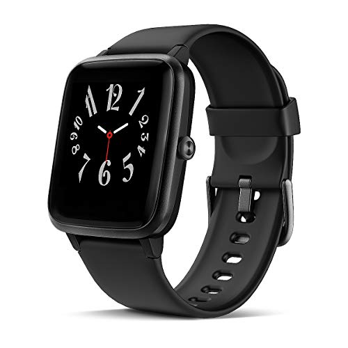 LATEC Smartwatch Orologio Fitness Tracker Impermeabile IP68 Smart Watch Schermo da 1,3 pollici con Cardiofrequenzimetro da Polso Contapassi Smartband Activity Tracker per Android iOS Huawei Samsung