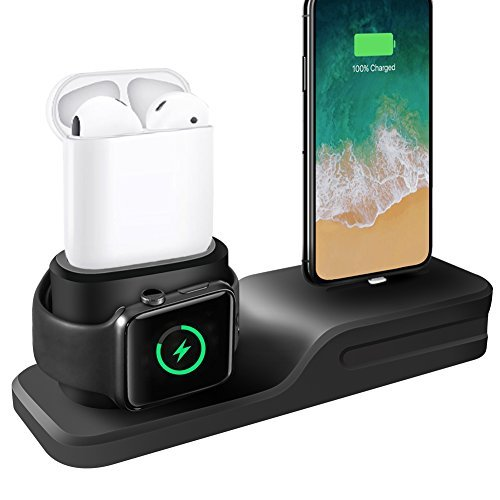 a5a9b2cc8fc Comprar Cargador 3 en 1 para iPhone AirPods Apple Watch Estación de ...