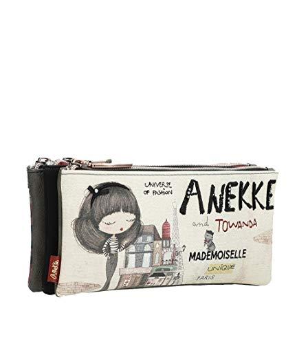 Astuccio triplo Anekke Couture, 21 x 8 x 10 cm