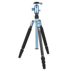Sirui T-004X tripode Digitales / cámaras de película 3 pata(s) Azul - Trípode (Digitales / cámaras de película, 6 kg, 3 pata(s), 139 cm, Azul, Sistema de bloqueo por giro Twist Lock o Sistema de cierre tipo rosca Twist Lock)