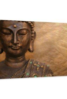 120 x 80 cm Cuadro en Lienzo Buda 5041-SCT – Imagen/Impresion/Pintura Listo para Colgar