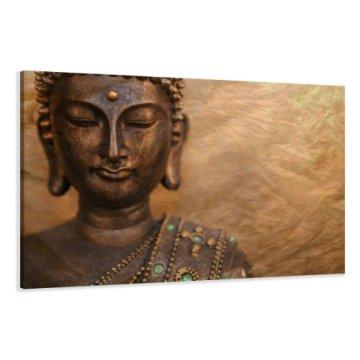 80 x 60 cm cuadro en lienzo buda 4041-VKF -Cuadro impresión, Cuadro decoración 3