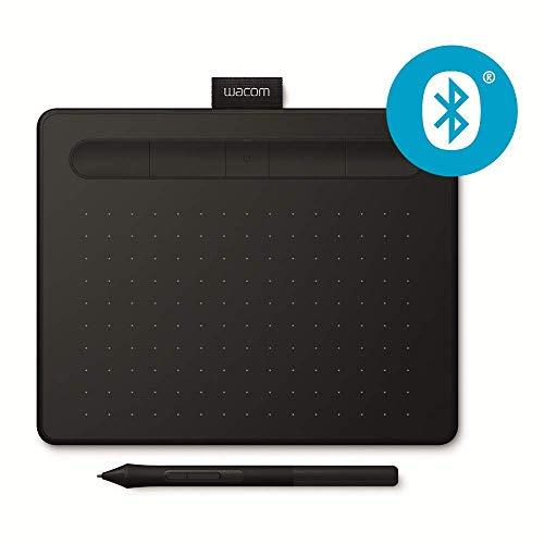 Wacom Intuos Small Tavoletta Grafica Bluetooth per Disegno Digitale con Penna Creativa 4K, Compatibile con Windows & Mac, 2 Software Creativi Scaricabili Gratis, Nero