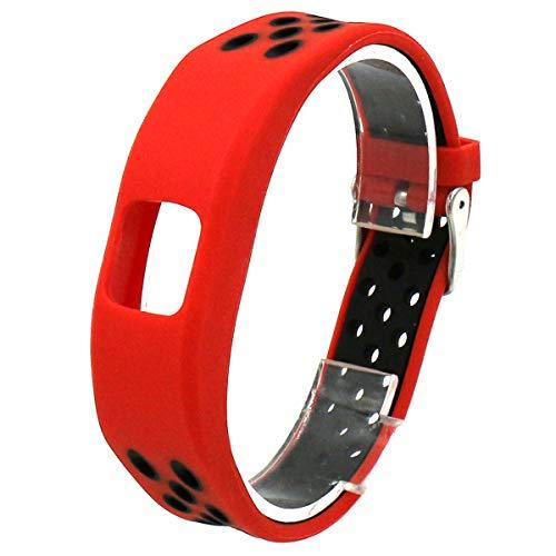 Elespoto Garmin Vivofit 4 polsiere Silicone di Cinturini per Orologi Bracciale Regolabile Sport Cinturino di Ricambio per Garmin Vivofit 4 Fitness Tracker (Red Black)