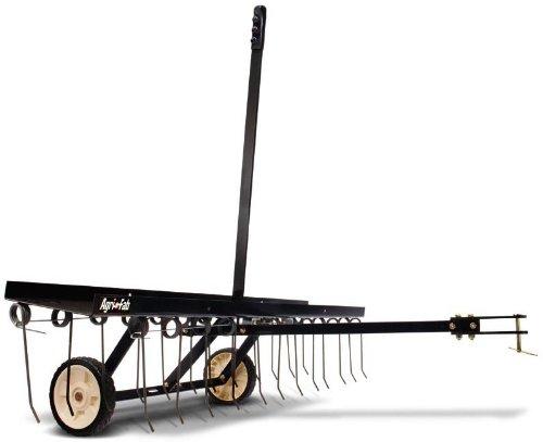 Agri-Fab AG45-0295 - Arieggiatore a molle, larghezza di lavoro 122 cm, colore: Nero