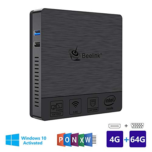 Beelink BT3pro Windows 10 Multi Media Desktop Full 4 K HD H.265 Smart Mini PC Processore Intel Atom...