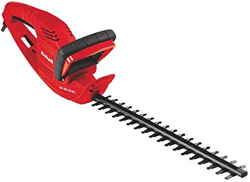 Einhell 3403742 Recortasetos eléctrico (potencia de 570 W, ralentí 1.600 min^-1, largo de corte 45 cm), 230 V, Negro, Rojo