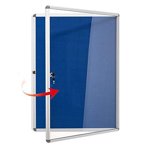 S SWANCROWN Bacheca allegata, lavagna magnetica cancellabile a secco con porta, vetrina a parete in...