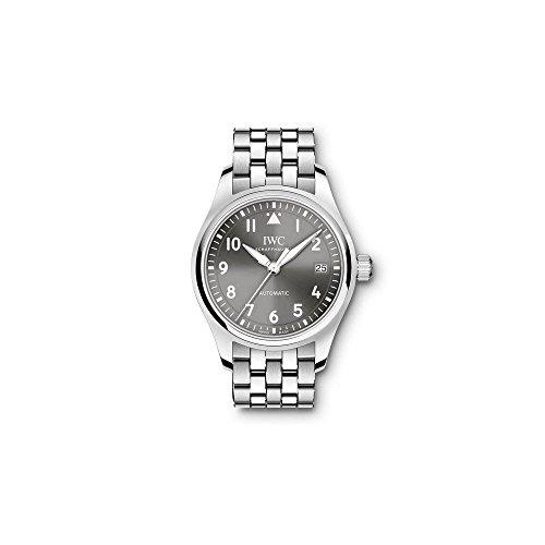 Porsche Unisex Pilot 36mm Stahl Armband und Fall Saphirglas Automatische Grau Zifferblatt analoge Uhr iw324002