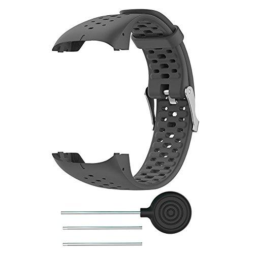 FOONEE fascia per Polar M400M430orologio in silicone, cinturino da polso Band sostituzione del cinturino per Polar M400M430GPS running Smart orologio sportivo cinturino da polso, Grey