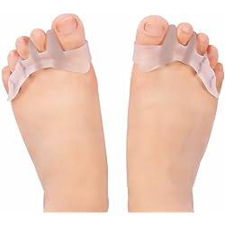 Gel separador de dedos Silicona del juanete Corrector Protector Toe enderezadora del Separador