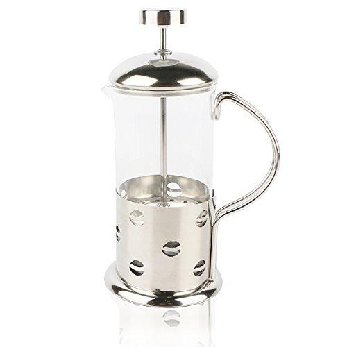 Caffettiera da viaggio, caffettiera francese a pistone in vetro, doppio filtro
