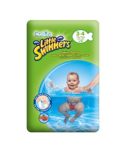 Huggies, Pannolini da bagno Little Swimmers, 3 x 12 pz. (36 pannolini), Taglia 3-4