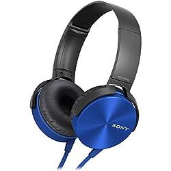Sony EXTRA BASS XB450AP - Auriculares con cables para móvil, con mando integrado y micrófono, color azul