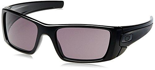 Oakley FUEL CELL, Gafas de sol Rectangulares para hombre, Negro (Polished Black Frame/Warm Grey Lens), 60