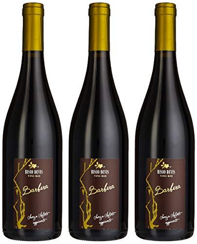 Bisio Devis - Vino Barbera, senza Solfiti Aggiunti - 2016 - confezione da 3 bottiglia da 750 ml