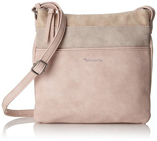 Tamaris Damen Khema Crossbody Bag Umhängetasche, Pink (Rose Comb.), 2x24x25 cm