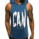 JiaMeng Camisetas Elástica de Fitness sin Mangas Tank Top Gym para Hombre Fitness Muscle Estampado...