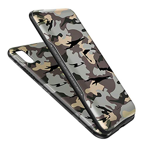 Amnicor Rock P53 Wireless Charging Magnetic Powerbank 5000 mAh with Magnetic Back case Cover for iPhone X (Camouflage)