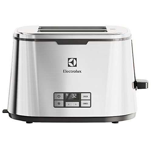 Electrolux EAT7800 Expressionist Digitale Tostapane, Acciaio Inossidabile, 2 Scomparti, Argento