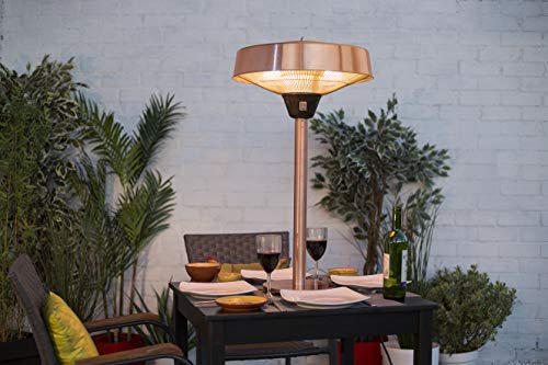 The La Hacienda Copper Series Table top Heater is a simple but elegant unit that you can purchase for your patio. The table top heater is made from a mixture of aluminium and steel to make it durable. The patio heater has been given a copper finish which provides a warm light that would make eating on the patio a relaxing experience.