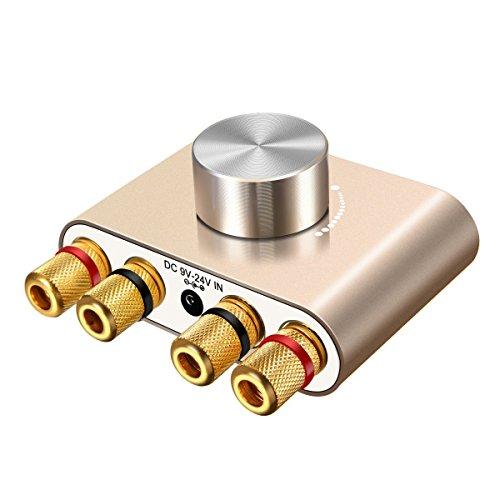 ELEGIANT Mini Bluetooth Verstärker HiFi Stereo Audio Wireless Bluetooth Endstufe 50W * 2 Dual Kanal Bluetooth 5.0 Digital Signal Amplifier Aluminiumkörper mit Netzteil