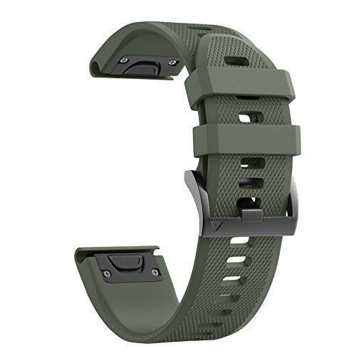 NotoCity Cinturino per Garmin Fenix 3/Fenix 3 HR/Fenix 5X/5X Plus/Fenix 6X/Fenix 6X PRO,Cinturino di Ricambio in Silicone,Quick-Fit, Colori Multipli