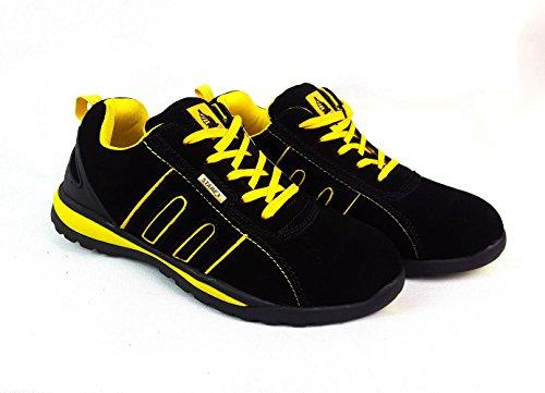 Lavoro di sicurezza con protezione dita in acciaio stivaletti scarpe da uomo misura Hiker,...