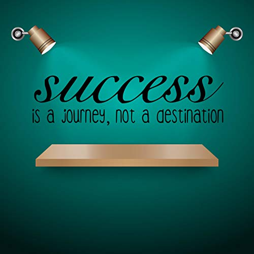 CECILIAPATER - Adesivo da Parete in Vinile Success is ajourney Not a Destination, 33 x 56 cm