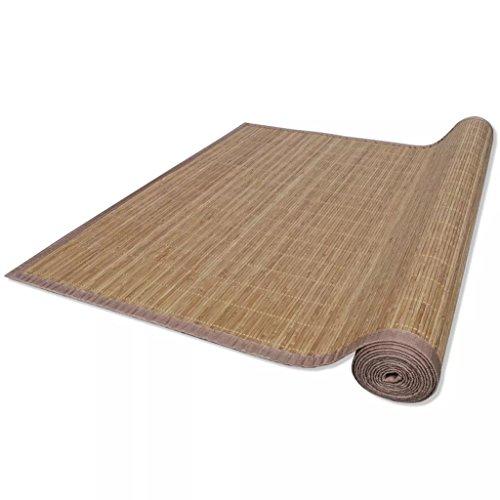 vidaXL Tappeto bambù Marrone Rettangolare 200 x 300 cm